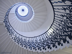 The Tulip Stairs, Greenwich, London (manxmaid2000) Tags: london greenwich queenshouse tulip stairs light uk spiral heritage history royal english escalier pastel staircase circle architecture round indoor blue interior building abstract curve caracol elegant england