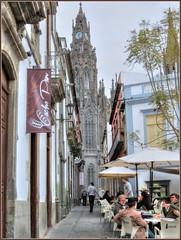 Arucas, Gran Canaria (robin denton) Tags: street travel urban church grancanaria town spain alley canarias canaryislands hdr ville espagna islascanarias arucus