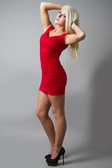 Alie (austinspace) Tags: portrait woman studio washington model spokane dress blond blonde cheerleader alienbees