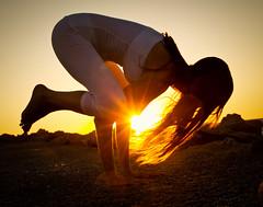 IMG_7506-5 (megscapturedtreasures) Tags: sunset girl yoga crane balance strength position