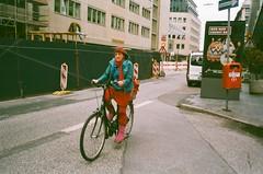 colorful (subway rat) Tags: life street woman film bike analog 35mm germany colorful hamburg olympus agfa expired mjuii mjuii