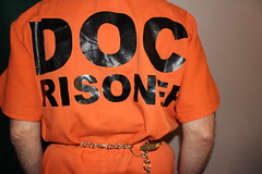 IMG_7869 (bob.laly) Tags: uniform chain jail shackles padlock handcuffs prisoner jumpsuit inmate