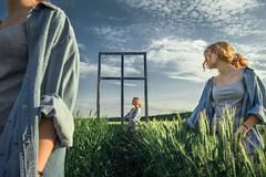 Window (maksimermak) Tags: sky people cloud color window girl field grass landscape nikon surrealism surreal       nikond3100 c