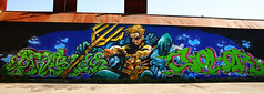 Aquaman (Red Cathedral uses albums) Tags: streetart graffiti sony antwerp petrol alpha antwerpen redcathedral a850 sonyalpha aztektv