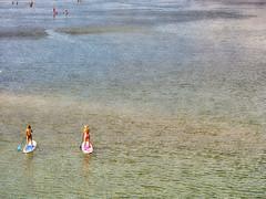 Tallebudgera Creek Entrance (robkolo666) Tags: ocean beach water girl creek surf board paddle bikini tallebudgera