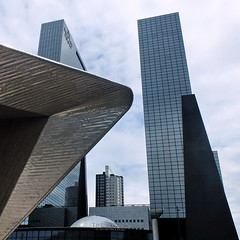 Frontliner (louise peters) Tags: city urban building station skyline architecture skyscraper rotterdam cityscape centraalstation stad centralstation architectuur gebouw rotterdamcentraal wolkenkrabber stadsgezicht frontliner