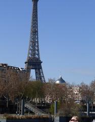 Eiffel Tower and Russian Orthodox church (carolyngifford) Tags: paris eiffeltower riverseine stvladimirchurch