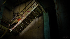 Urbex - DSC1554 16x9 4k wallpaper (cleansurf2 Urbex) Tags: wallpaper color colour building abandoned architecture stairs dark way stair decay widescreen rustic vivid age a7 urbex 16x9 ilce emount ilce7m2