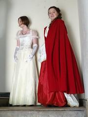 Young ladies visiting Scotney  (42) (Gauis Caecilius) Tags: uk england kent britain nationaltrust reenactment scotneycastle