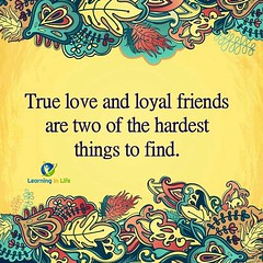 True Love and Loyal Friends (learninginlife) Tags: friends love find loyal hardest