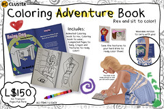 -RC- Coloring Adventure Book (-RC- Cluster) Tags: color art kids painting book kid paint pages secondlife coloring animation colored animated crayons crayon rc markers reddcolumbia rccluster