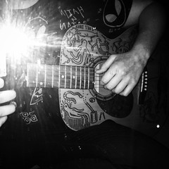 (Krillinator) Tags: blackandwhite music white black reflection illustration pen mirror photo different guitar drawing illustrated flash illustrations style doodle marker acoustic sharpie custom outlines edit permanent customised