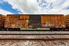 (o texano) Tags: bench graffiti texas houston trains spot dac jib freights a2m benching adikts