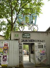 Ljubljana, Slovenia (mangaddicted) Tags: streetart art river europe slovenia ljubljana oldtown ljubljanica