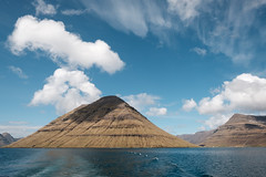 On the ferry to Kalsoy, Faroe Islands (Sunny Herzinger) Tags: travel light sea sky mountain clouds landscape spring fo faroeislands northernisles fujinonxf14mmf28 fujixpro2