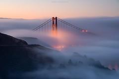 At last! (gmacfly) Tags: california bridge light tower nature beautiful fog sunrise golden amazing nikon gate soft long exposure glow myrrs d800e