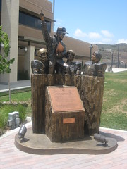 Campus statues... (goldiesguy) Tags: goldiesguy artwork bronze statue statues sculpture sculptures football