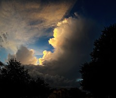 The storm kept growing, but drifted by without a drop at my house (Lee Bennett) Tags: sky cloud storm weather