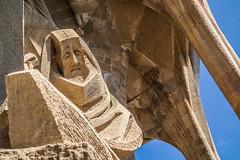 Sagrada Famlia Sculpture (Jean-Paul Navarro) Tags: barcelona spain catalonia catalunya barca europe sagrada famlia sagradafamlia basilica baslica temple expiatori baslicaitempleexpiatoridelasagradafamlia antoni gaud antonigaud church sculpture statue exterior