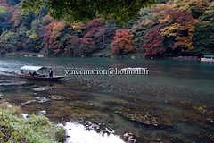 arashiyama001 (vincemarion) Tags: red fall japan automne river rouge temple maple kyoto autumnleaves momiji arashiyama japon feuille koyo erable couleurautomnale