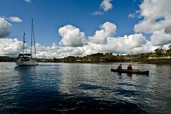 Menai Paddlers (Dafydd Penguin) Tags: wales sailboat landscape nikon kayak sailing sigma nikkor snowdonia anglesey northwales menaistraits sigma14mm menaibridge nikond5100