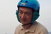 18389 Bike helmet earmuffs version 2, cone could hold phone (loosely while stationary) (geekstinkbreath) Tags: sanfrancisco me helmet yarn earmuffs russianhill earmuff bikehelmet bicyclehelmet earwarmers earwarmer minolta50mm nutcasehelmet nutcasehelmets