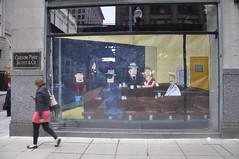 Nighthawks (dont fret) Tags: street chicago art carson paper scott ed graffiti downtown loop paste wheat dont popup fret hopper 2012 nighthawks pirie