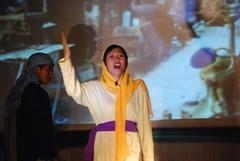 Kaye singing Lamb of Glory (Fellowship Baptist Church - Bacolod) Tags: