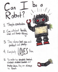 Can I be a Robot? (Darth Prime) Tags: red color colour broken look pencil pencils toy robot nice perfect pretty arm drawing no everybody down can things wires terrible be fixed loves always sliver they how them smashed theyre crushed harsh bashed matter crme cruel hashed emotionless withstand mushed i