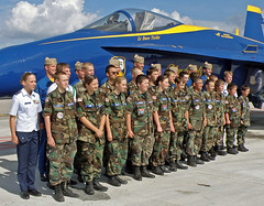 Cadets-w-blue-angels (Civil Air Patrol - Group 5 FLWG) Tags: cap blueangels cadets civilairpatrol floridawinggroup5