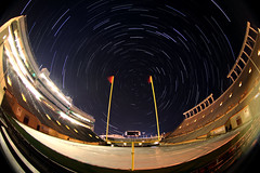 Lane Stadium - Under the Stars (CJY - Flash) Tags: night canon photography football acc stadium startrails virginiatech collegefootball hokies lanestadium