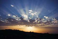 Rays of Light (redaleka) Tags: light sunset sky cloud sun sunlight color art colors beautiful beauty clouds landscape lights colorful paint ray cloudy sunny rays sunrays paiting breathtaking sunray