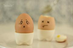 Eggsterminated! (.OhSoBoHo) Tags: canon fun 50mm funny sad sweet expression kawaii eggs cry uhoh odc eggface chnage canoneos40d ourdailychallenge ifeelsadwhenilookatthislittleegg eventhoughidrewitmyself explainswhyiamveggie