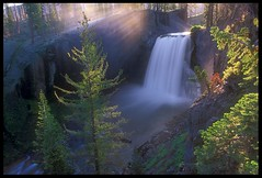 Morning at Rainbow Falls (Buck Forester) Tags: california mountains nature river waterfall sierra mammoth wilderness mammothlakes sierranevada nationalmonument minarets rainbowfalls sanjoaquinriver devilspostpile rainbowfall buckforester brianernst devilspostpilenationalmonument