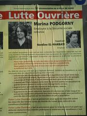 Marina Podgorny (emmanuelsaussieraffiches) Tags: poster political politique affiche lutteouvrire