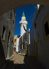 Mosque in the medina, Tripoli, Libya (Eric Lafforgue) Tags: africa street color vertical outdoors northafrica mosque medina libya tripoli placeofworship libia libye libyen colorpicture lbia italiancolony libi libiya  ribia liviya libija colourpicture       lbija  lby  libja lbya liiba livi  a0014885
