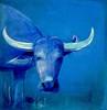 "Büffel- Acryl Gemaelde Galerie ""ORIGINALS"" Acrylbilder von Doris Pohl (Acrylbilder) Tags: modern tiere kunst blau acryl malerei acrylfarben acrylbilder acrylgemälde dorispohl"