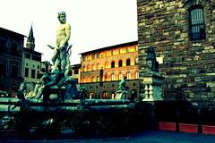 Fontana del Nettuno - Piazza della Signoria (Firenze) (fabcer) Tags: firenze siena piazza toscana della statua prato fontanadelnettuno centrostorico signoria daviddimichelangelo