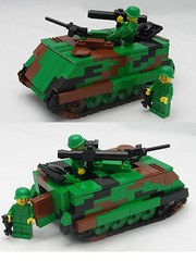 M113 with TOW missile (BeLgIuM ww2 bUiLdeR) Tags: modern lego camo vietnam jungle variant warfare m113