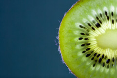 Green Kiwi (II) (Felix Schmidt Photography) Tags: blue food color colour