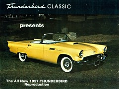 1957 Ford Thunderbird Reproduction (1980) (coconv) Tags: pictures auto old classic cars ford car vintage magazine ads advertising cards photo flyer automobile post image photos antique album postcard ad picture images advertisement vehicles photographs card photograph postcards 1957 vehicle autos collectible collectors 1980 brochure thunderbird reproduction automobiles 57 dealer prestige