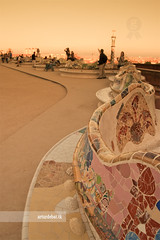 Park Gell (arturii!) Tags: barcelona city light sunset sea sky people color beauty architecture wow garden bench gold amazing nice interesting europe superb awesome capital great wave tourist catalonia architect gaudi stunning impressive parkguell barcelone gettyimages mediterrenean trencadis ondulado arturii