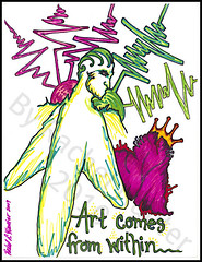 art comes from... (Rachel Hunter Sharpie Art Creations) Tags: abstract man art design rachel artwork colorful artist pattern heart lotus drawing unique projection designs crown hunter sharpie vibes within creations artistry