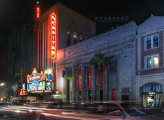el capitan theater (Kris Kros) Tags: light cars film by architecture photoshop movie lights long exposure theater boulevard shadows pacific streak theatre live touch jimmy trails el disney company hollywood owned kris abc pillars walt limousine hdr zara blvd kk avengers kkg theatres kimmel capitan operated theavengers 3xp photomatix cs6 kros kriskros kkgallery