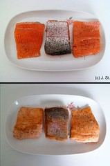 Delikatesse / Delicacy (Yogi 58) Tags: fishing angeln troutfishing yogi58 forellenangeln jrgsteiof forellenfilet samsungpl210 denmark2012 dnemark2012 filetfromtrout