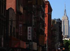 Empire City (phillytrax) Tags: city nyc newyorkcity urban usa newyork america skyscraper chinatown unitedstates manhattan empirestatebuilding streetscape mottstreet thebigapple