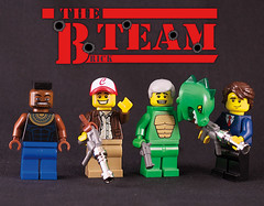 B-Team (captainsmog) Tags: smile face costume team gun lego 4 smith cap minifigs custom looping hannibal ateam barracus