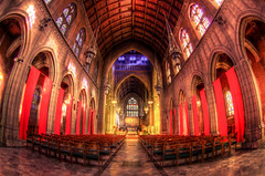Trinity Cathedral (Yuanshuai(TIM) Si) Tags: church university cathedral state pentax interior cleveland indoor s symmetry fisheye trinity hdr 1017 csu k5       pentaxart  pentaxk5