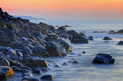 Westward Ho! Looking towards Hartland Point. Sunset (Nick Woodrow: Thanks for all of your comments) Tags: sunset sea rocks ho westward slowexposure hartlandpoint nickwoodrow ndfilterx8