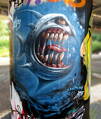 SharkyEgoAction (ViewOne) Tags: shark view character basel etc sucks graff 213
